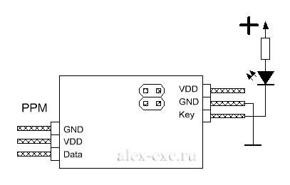 PPM ключ - Схема включения подсветки