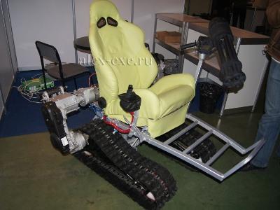 Гусеничное кресло с 6-ти ствольным цельно сваренным пулеметом