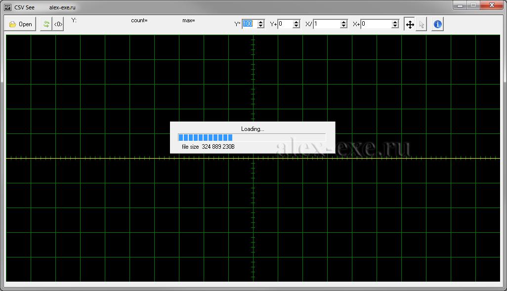 Загрузка 309МБ файла с 14 миллионами точек.