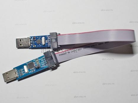 Соединённые программаторы USB ISP и USB ASP
