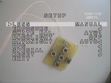 Экранное меню камеры