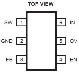 Распиновка микросхемы, корпус sot23-6