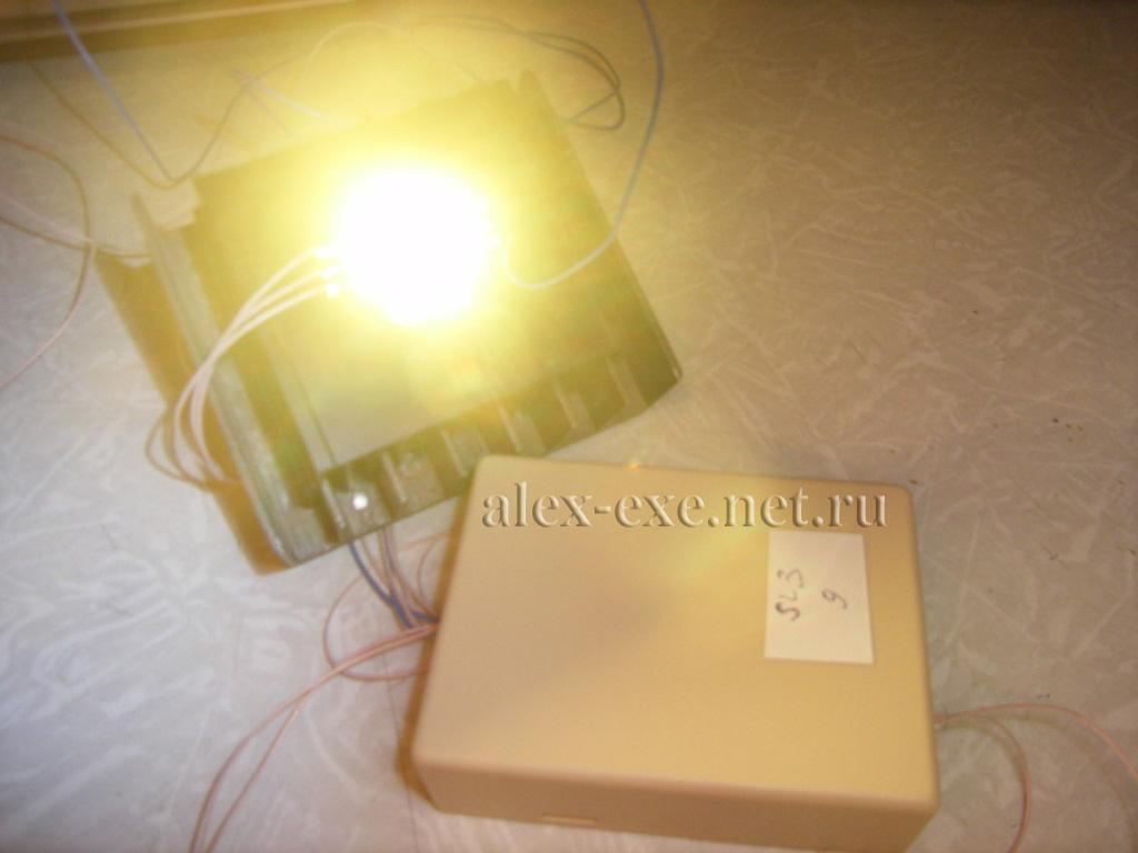 схема подключения светодиода через переключатель
