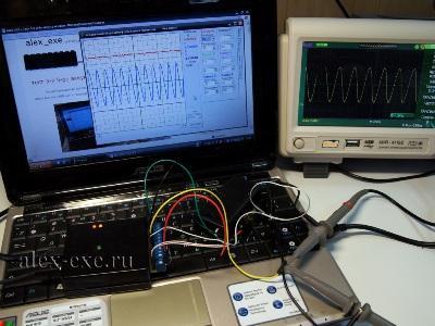 6-ти канальный осциллограф длительных процессов