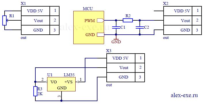 Примеры подключения датчиков к XTR115