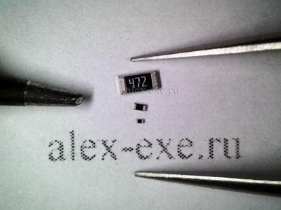 Жало и пинцет, резисторы 1206, 0402, 0201