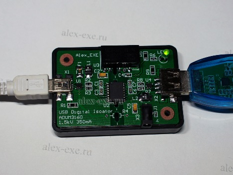 Гальваноизолятор USB на ADUM3160