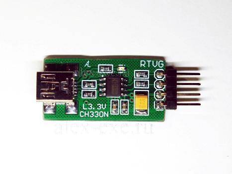 USB-UART на CH330N