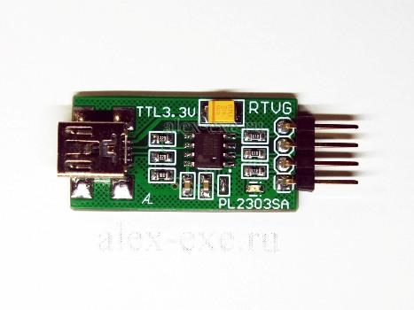 USB-UART на pl2303sa