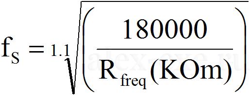 fs=(180000/Rfreq)^(10/11)