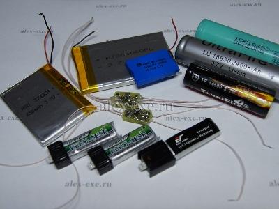 Li-Ion и Li-Poly аккумуляторы и из зарядки