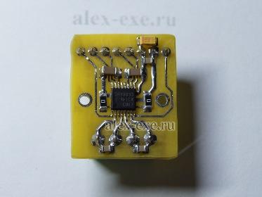 Вид платы модуля драйвера drv8833