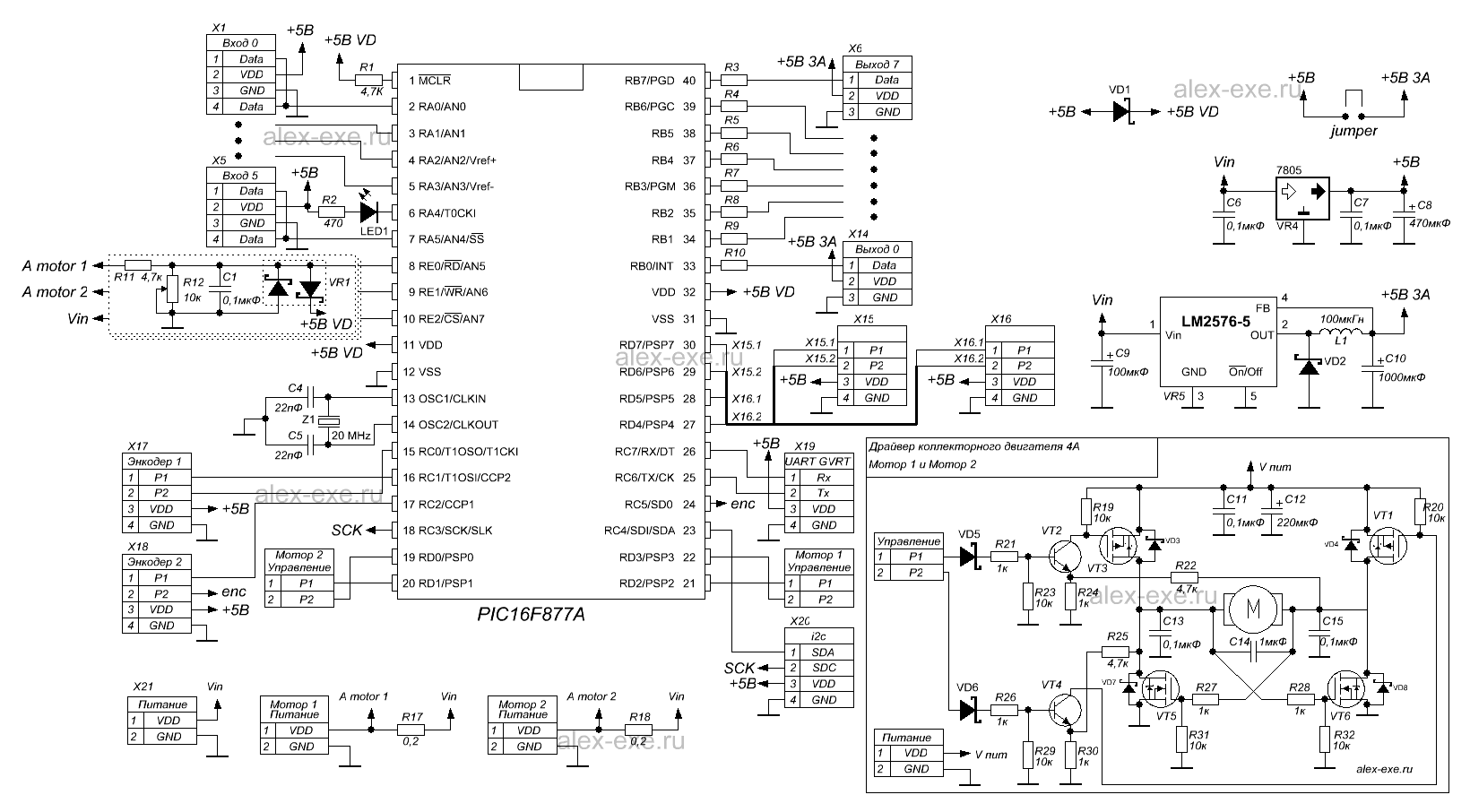 Stm32 схема двигатель