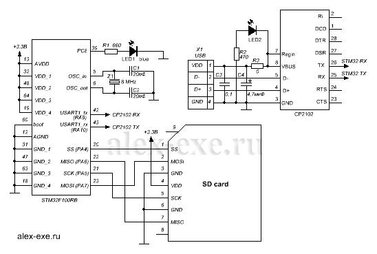 Подключаем SD карту памяти к STM32 по SPI.