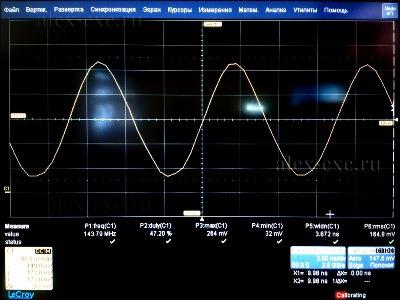 Осциллограмма тактовой частоты системной шины