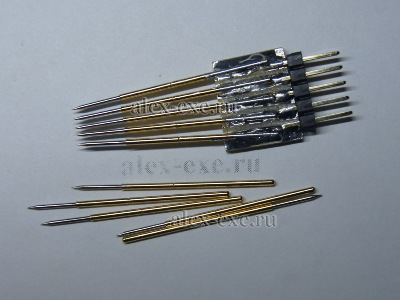 Щуп для прошивки и его составляющие иголы PL75-B1 для тестирования