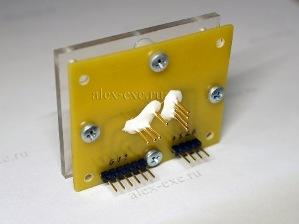 Применение 704 белого герметика - фиксация PoGo pin иголок